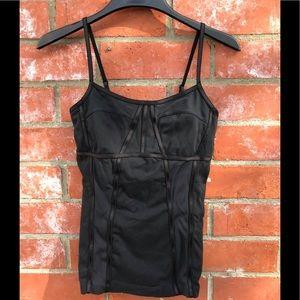 Lululemon corset stitched work out tank.
